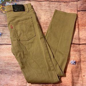 Levi's 510 Skinny Tan Denim Jeans 27x27 Kids 14Reg